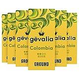 Gevalia Colombian Medium Roast Ground Coffee (12 oz Bags, Pack of 6)