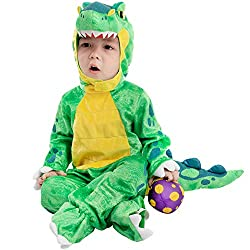 4. Spooktacular Creations Store Baby Green T-Rex Costume