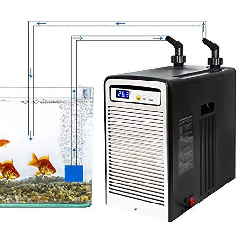 Levuyou Aquarium Wasserkühler - 500L Aquarium Chiller Meeresfrüchte-Anbaumaschinen für Quallen-Wasserpflanzen Korallenkristallgarnelen Süß- / Salzwasser-Wasserpflanzen