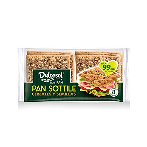 DULCESOL 🥪😋🌾 Pan Sottile con cereales - 8 unidades 🥪😋🌾