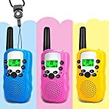 Moglor Walkie Talkie Niños 3 Pack, 22 Canales LCD Pantalla VOX Larga Distancia 3KM Walkie Talkie,...