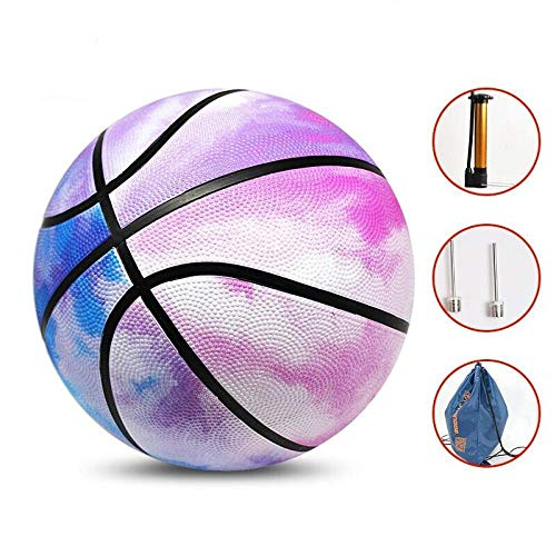Great Features Of SSLLPPAA Watercolor Pink Women's Basketball No. 6 Ball Wear-Resistant Basketball O...