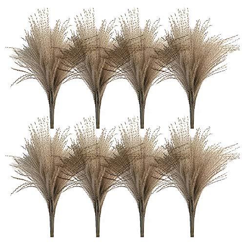 BOVER BEAUTY 50 Pc Plantas Secas Cañas Pampa Gramíneas Phragmites Muérdago Puntillas Real Pequeño Manojo Ornamental Naturales para Y La Decoración Casera