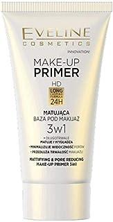 Eveline Face Make Up Primer 3 In 1 Long Lasting Mattifying Pore Reducing 30 Ml