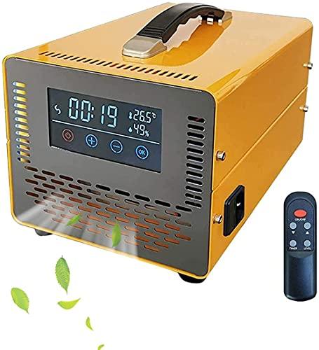 Generador de ozono con pantalla táctil y control remoto Desodorador industrial Esterilizante Purificador de aire de alta capacidad portátil de alta capacidad para el hotel de fábrica ect-Amarillo