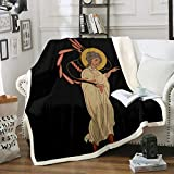 Loussiesd Arabian Woman Flannel Fleece Blanket for Couch Sofa Bed Exotic Style Throw Blanket Arab Black Background Print Bed Throws Lightweight Bed Blanket, Baby Size (30 x 40 Inches)