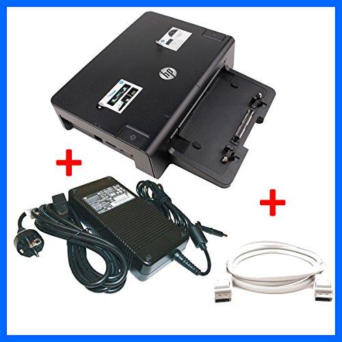 HP Docking HSTNN-I10X + HP 230W Netzteil + Displayport für Elitebook 8440w 8460w