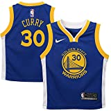 Nike Stephen Curry Golden State Warriors NBA Toddler 2-4 Rush Blue Official Player Performance T-Shirt (Toddler 3T)