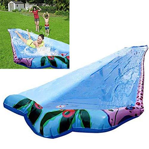 FENGLI Diapositivas de agua de césped PVC extra grueso 6m Garden Slight Slight Slide Slides Cómodos Juegos de agua de verano Juguetes al aire libre para Backyard Lawn Garden Beach, adecuado para niños