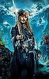 YGVXX Kit de pintura de diamantes Diy Piratas del Caribe personaje de película 5D bordado de...