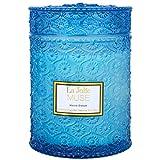 La Jolíe Muse Meeresbrise Duftkerze, 100% natürliche Sojakerze für zu Hause, 90 Stunden lange Brennzeit, Limette, Veilchen, Zedernholz, Sandelholz, großer Glasbehälter, 550g