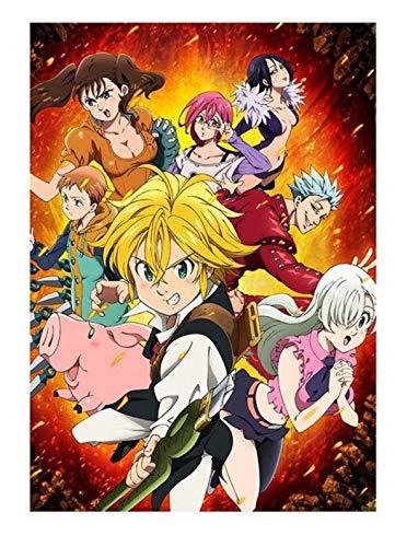 xuyuandass Los Siete Pecados Capitales De Umeda Anime Manga Pintura De Pared Sin Marco 50x60Cm K2181