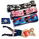 bodydrill24 Fitnessbänder Set -3 Längen- Plus Theraband Blau- Resistance Bands Widerstandsbänder extra breit in schwarzer Geschenkbox mit Magnetverschluss - Erwecke EIN neues Lebensgefühl in Dir