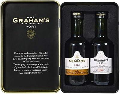 Vintage Marque W. & J. Graham's Port Tin 2 x 5cl