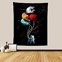 宇宙飛行士のタペストリー北欧の吊り布の家の装飾の座っている毛布-FGT10184垂直バージョン_150 * 130cm