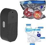 Flextail Gear 9 Flex & Food - Bolsas de vacío reutilizables para alimentos y ATMOS Bomba de aire Compresor Bomba de vacío – Adecuado para inflar pelotas y envasar al vacío bolsas de vacío Negro