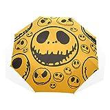 umbrella funny jack skellington 3 folds lightweight anti-uv