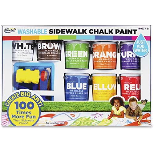 RoseArt Washable Sidewalk Chalk Paint Set - 8 / Pack - Assorted
