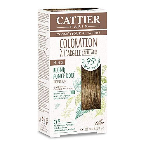 Cattier Kit Coloration Capillaire à l'Argile - N°6.3 Blond Foncé Doré