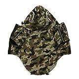 ChoChoCho Pet Clothing Camouflage Print Raincoat Stylish Windbreaker Streetwear Outfit for Dog Cat Puppy Small Medium Large (4XL)
