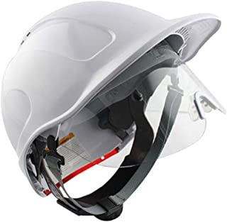 Construction Helmet with Goggles, Adjustable ABS Anti-Smashing Protective Helmet Hard hat in Accordance with EN397, Earthquake Rescue Helmet Emergency Protection Safety Helmet