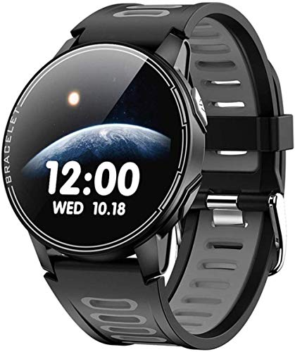 Gymqian Smart Watch, Inforión de la Pantalla de Color de 1.3 Pulgadas Push, Recordatorio Sedentario, Reloj Deportivo Bluetooth Exquisito-Negro Desgaste diario/Negro