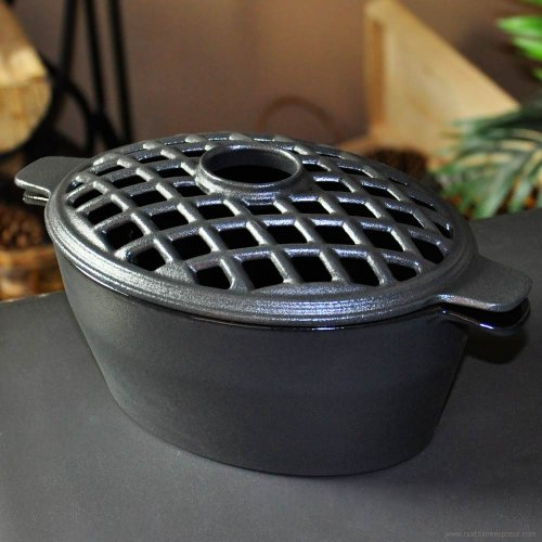Small Decorative Wood Stove Cast Iron Humidifier / Steamer