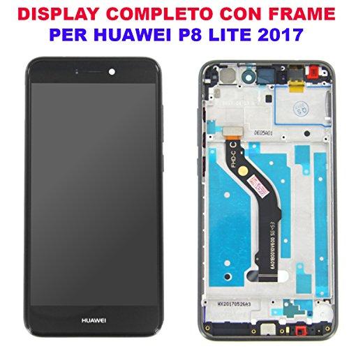 OEM SYSTEMS Vetro Schermo Display LCD Touch Screen Huawei P8 Lite 2017 Nero Black Pra-LX1 LX3 LA1 Telaio Frame Vetro