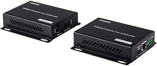 Monoprice Blackbird 4K HDBaseT Extender Kit, 70M with Poc, RS232, HDCP 2. HDMI Cable (115777)