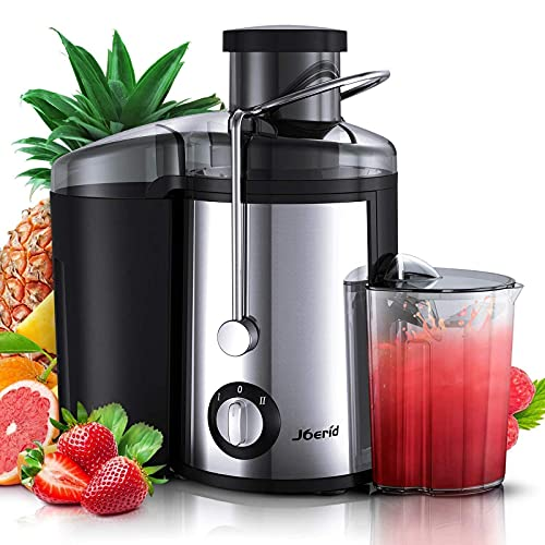 Juicer Machine, Juice Extractor, Joerid Centrifugal Juicers Anti-Drip Dual Speed, Juice Maker For Vegetable and Fruit, BPA-Free & Easy to Clean, Juice Pitcher and Brush Included