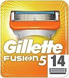 Gillette Fusion 5 Rasierklingen mit Trimmerklinge für Präzision und Gleitbeschichtung, 14 Ersatzklingen
