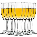 Set of 12, Champagne Glasses, 6 Ounce Champagne Flute, Lead-free Drinkware, Clear