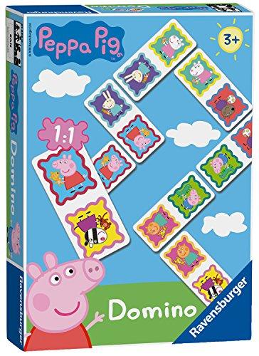 Ravensburger 21374 Peppa Pig-Dominoes Niños Edad 3 Años y Up-A Clásico Juego...