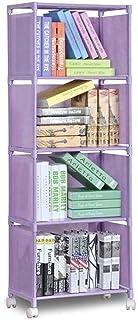 SHBV Bibliothèque étagère à 4 Niveaux étagère de Rangement étagère de Rangement pour vêtements Compartiment de Rangement é...