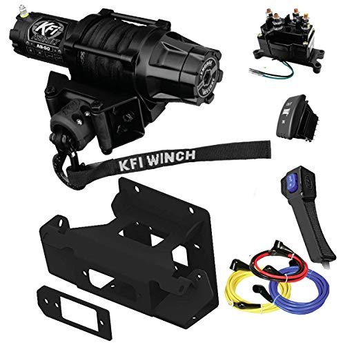 KFI Combo Kit - SE45-R2 4500lbs Stealth Winch, 101520 Mount Bracket, Wiring, Switches, Remote - compatible with Can-Am Maverick X3 & X3 Max