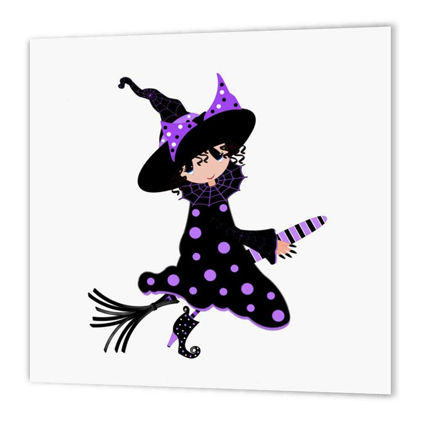 3dRose ht_56026_1 Cutest Little Witch-Iron on Heat Transfer Paper for White Material, 8 by 8-Inch