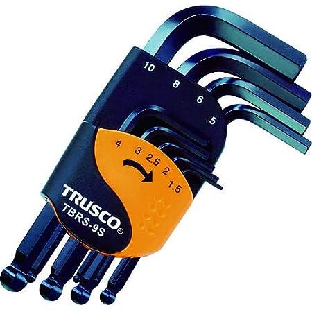 TRUSCO(トラスコ) ボールポイント六角棒レンチセット ショートタイプ 9本組 TBRS-9S