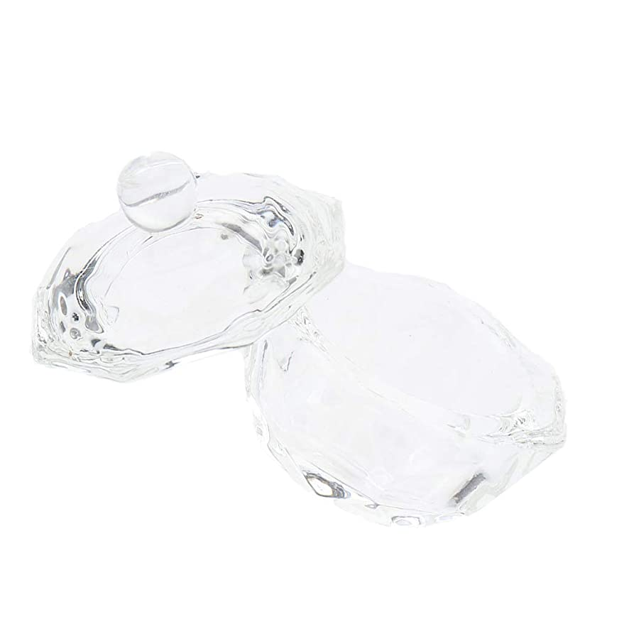 導出蒸留する狂ったDYNWAVE ネイルガラス皿 ネイルアートクリスタルカップ グラスカップ ミキシングカップ ネイルアート用品ツール