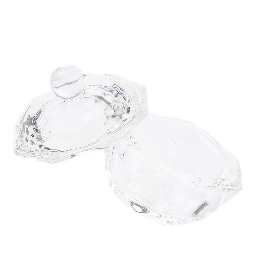 警戒亡命十億Perfeclan ネイルアートクリスタルカップ ガラス ミキシングカップ ネイル リキッドパウダー ネイルアートアクセサリー
