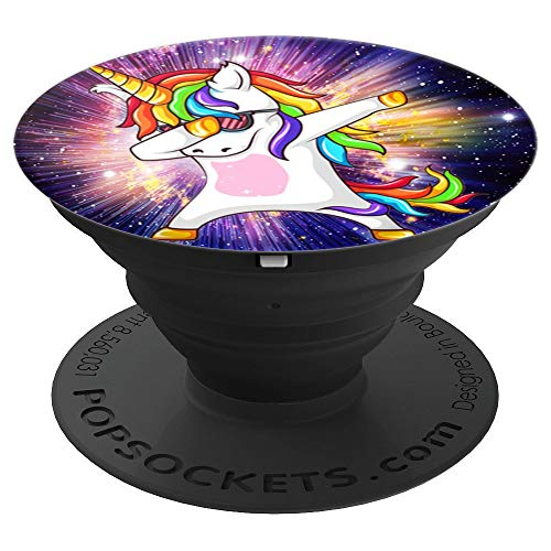 Phenomenal Space Background unicorn cute Dabbing Unicorn PopSockets Grip and Stand for Phones and Tablets