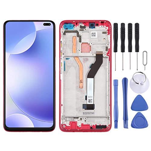 Mingxian Pantalla LCD y digitalizador Asamblea Completa con el capítulo for Xiaomi redmi K30, Versión 4 G (Rojo) (Color : Red)