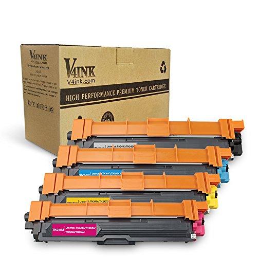 v4ink Toner ersetzt Brother TN-241 TN-245 TN241 für Brother MFC-9142CDN DCP-9022CDW MFC-9342CDW HL-3170CDW HL-3150CDW MFC-9332CDW Drucker, 2500 Seiten für Schwarz, 2200 Seiten für je Farbe, 4 Stück