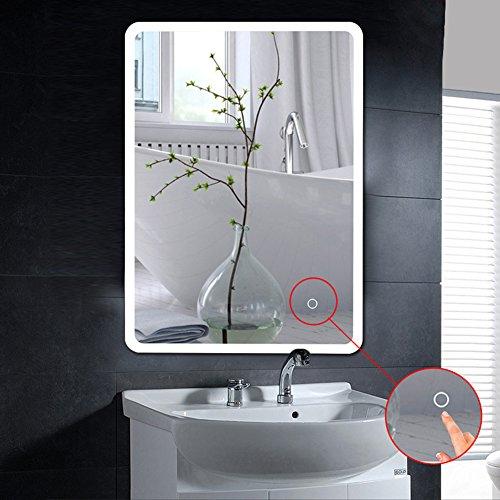 MUPAI Badspiegel LED Badezimmerspiegel Beleuchtet Bad Spiegel Wandspiegel (Weiß, Filet, 50x70cm) (Weiß, Filet, 50x70cm)