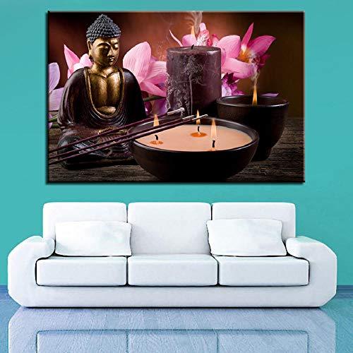 Knncch Heilige heilige skulptur kerze Wandbilder für Wohnzimmer Moderne Dekoration Poster...