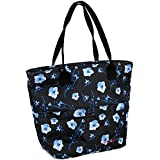 J World Lola Lunch Tote Bag Insulated Lunch-Box for Women & Teen Girls, Night Bloom