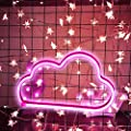 MorTime Cloud Neon Sign, LED Cloud Shaped Neon Light for Party Supplies, Girls Room Wall Decoration Accessory Table Decoration, Children Kids Gifts (Pink)