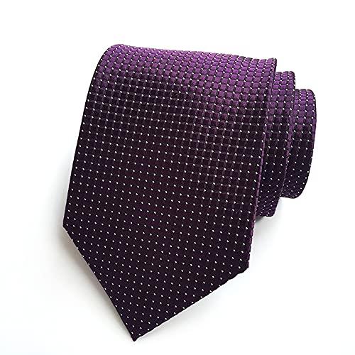 Clasico Formal Elegante Hombres Corbata Nuevo Hombre Corbatas Para Seda Color Sólido Extra largo para La Oficina O Eventos Festivos Una Boda, con Un Traje, En La Oficina - Caja de regalo