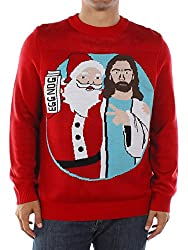 Santa and Jesus birthday Bros tacky Christmas Sweater