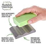 TreeBox Moderne Seifenschale aus natürlichem Sandstein - Inkl. 4 Antirutschfüßen aus Silikon - Perfekt geeignet für Bad und Küche - Umweltfreundliche Seifenablage - 2