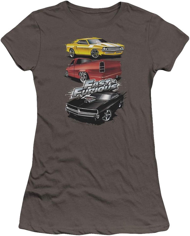 Fast And The Furious  Juniors Muscle Car Splatter Premium Bella TShirt